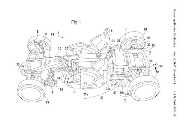 ホンダがミドシップ・スポーツカーの車体構造に関する特許を申請