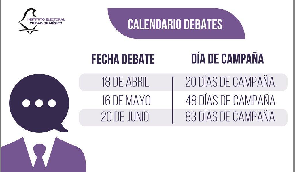 El IECM aprueba las fechas de debates de los candidatos en