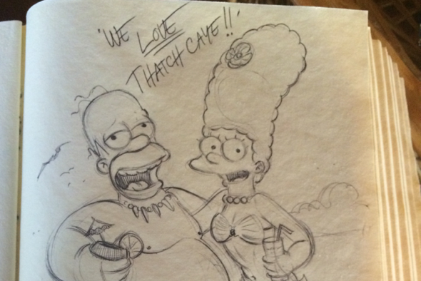 Former Simpsons animator leaves brilliant sketch in holiday guestbook