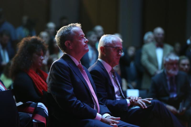 Side by side. Bill Shorten and Malcolm