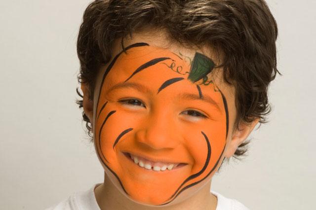 halloween face painting tutorial pumpkin