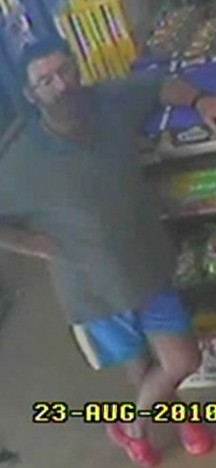 CCTV footage of a man police believe may be Graham Potter in a local shop in