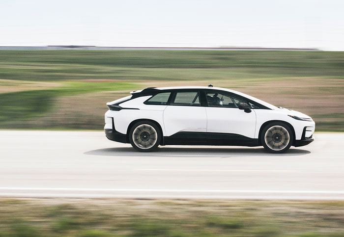 Watch Faraday Future's high-speed FF 91 field tests