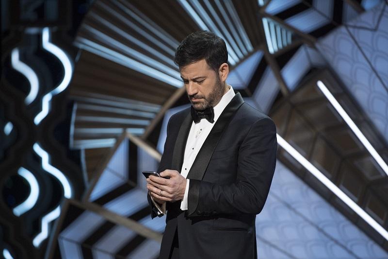 THE OSCARS(r) - The 89th Oscars(r)  broadcasts live on Oscar(r) SUNDAY, FEBRUARY 26, 2017, on the ABC Television Network. (Eddy Chen/ABC via Getty Images) JIMMY KIMMEL