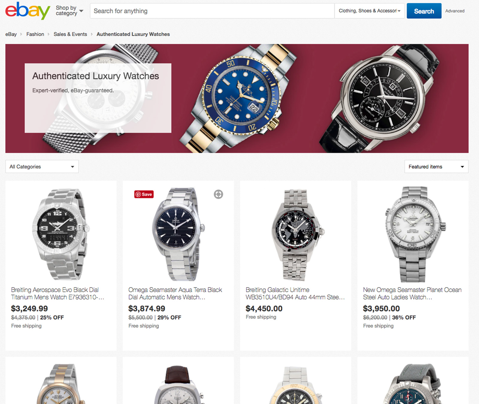 eBay Authenticate for watches