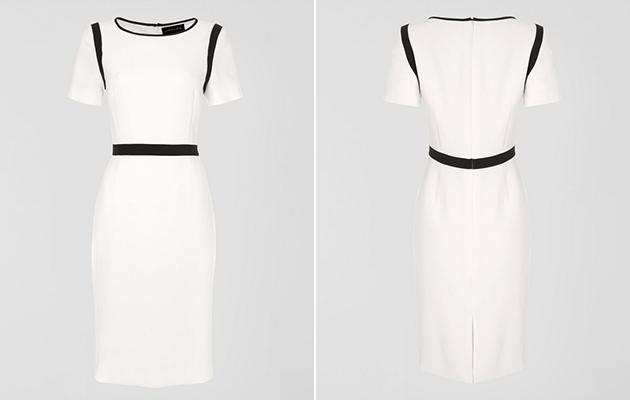 kate middleton white shift dress
