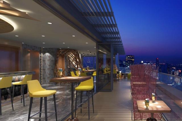 Dorsett City rooftop bar