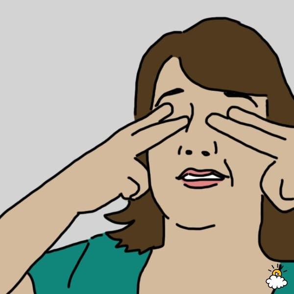 eye pressing exercise