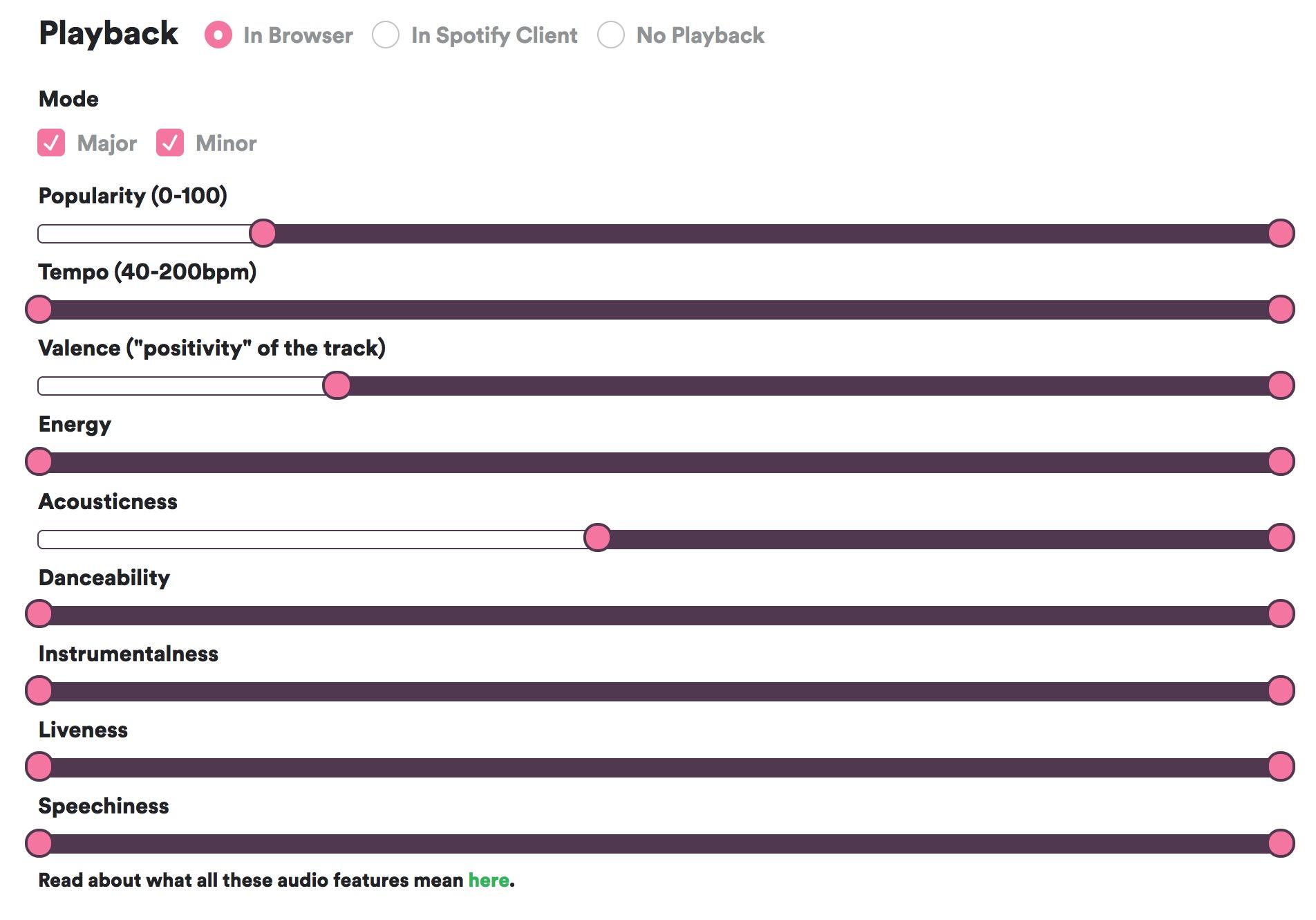 Tweak Spotify's recommendation tech to create custom playlists