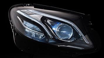 Mercedes E-Class headlights