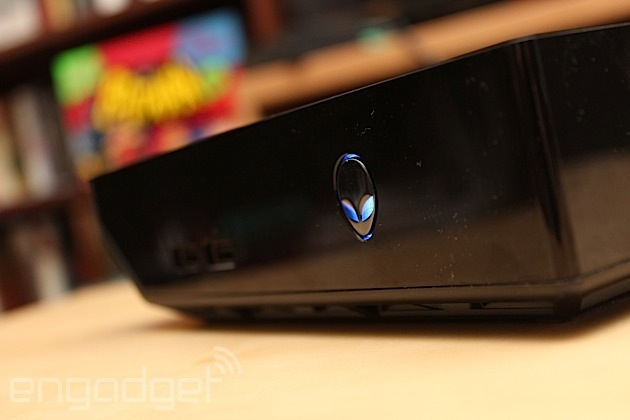 The Alienware Alpha is simple, small and almost boring to look at -- a  subdued black box that won't draw an iota of attention to your entrainment  center.