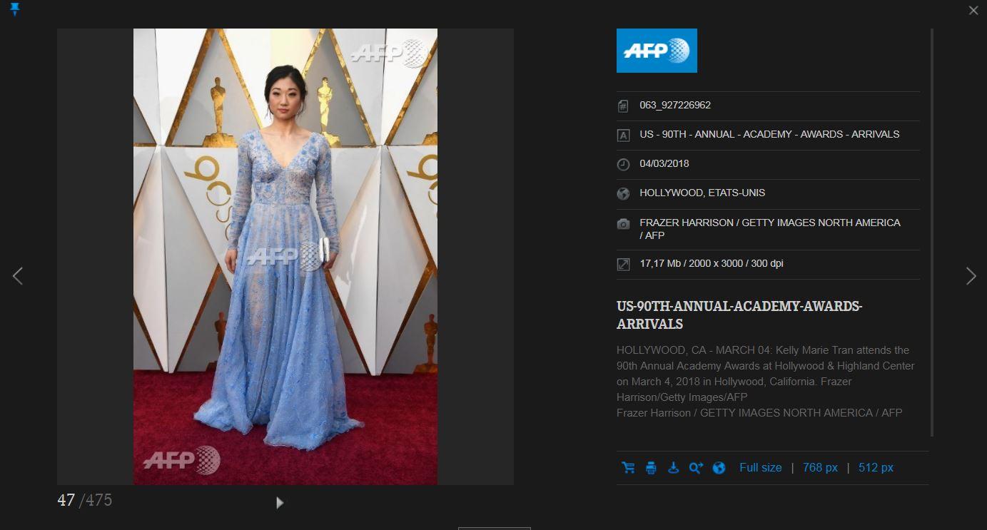 Getty et l'AFP ont confondu ces deux Américaines d'origine asiatique aux Oscars: l'actrice de Star Wars...