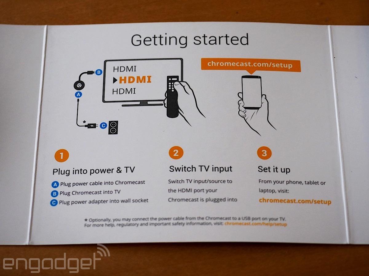 connect chromecast to tv