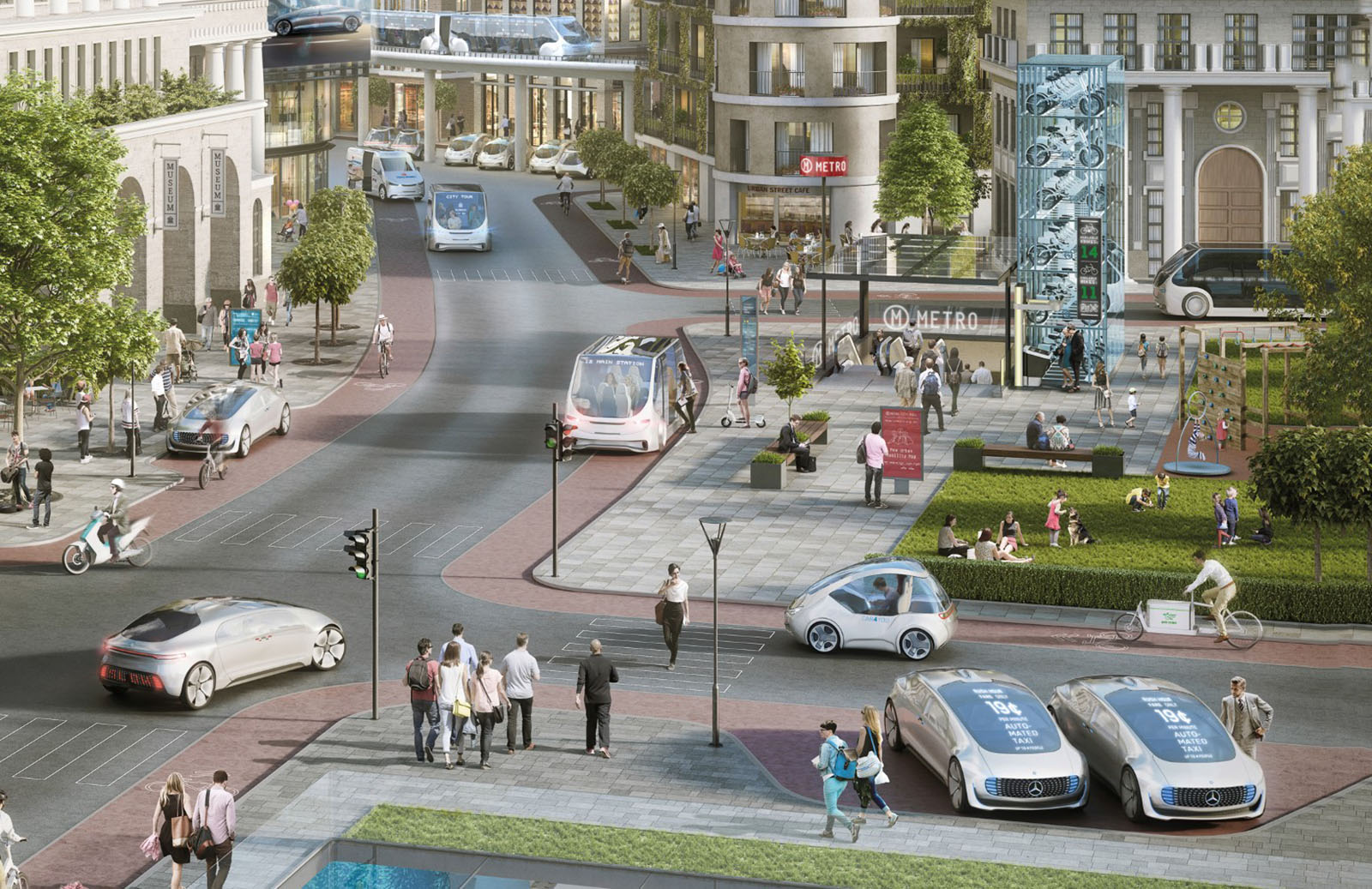 Mercedes and Bosch want you in a self-driving taxi ASAP
