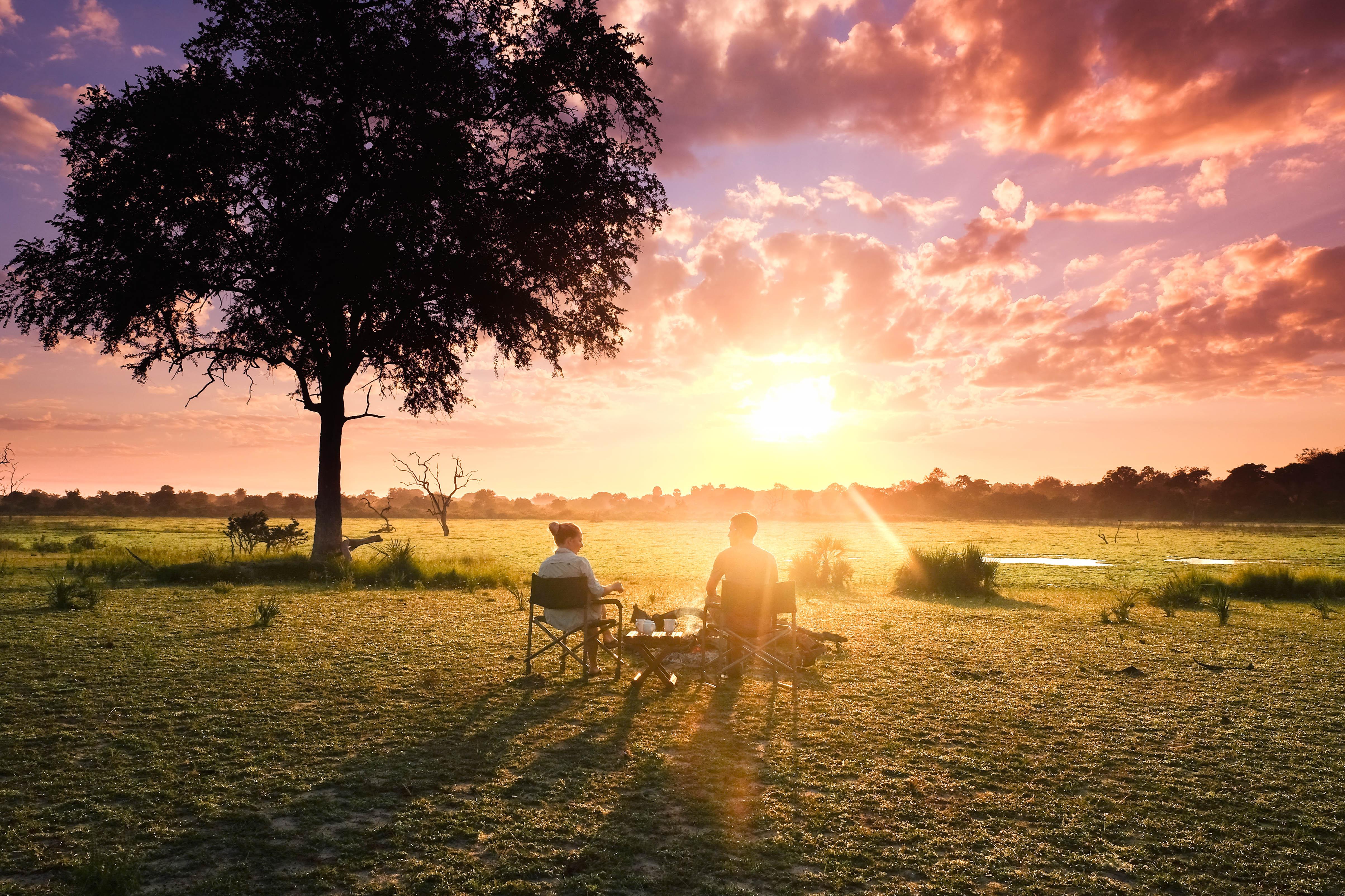 Camping dans la réserve de Selous, en
