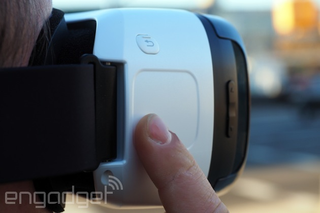 The Gear VR touchpad