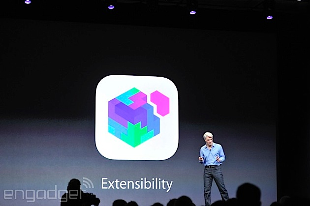 Apple iOS 8 上不同的 app 終於可以做朋友,互通資料和功能