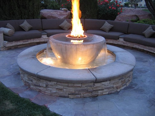 fire pit fountain