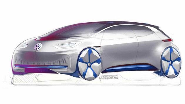 フォルクスワーゲンの電気自動車コンセプトは、テスラとBMW「i3」を組み合わせたような外観に