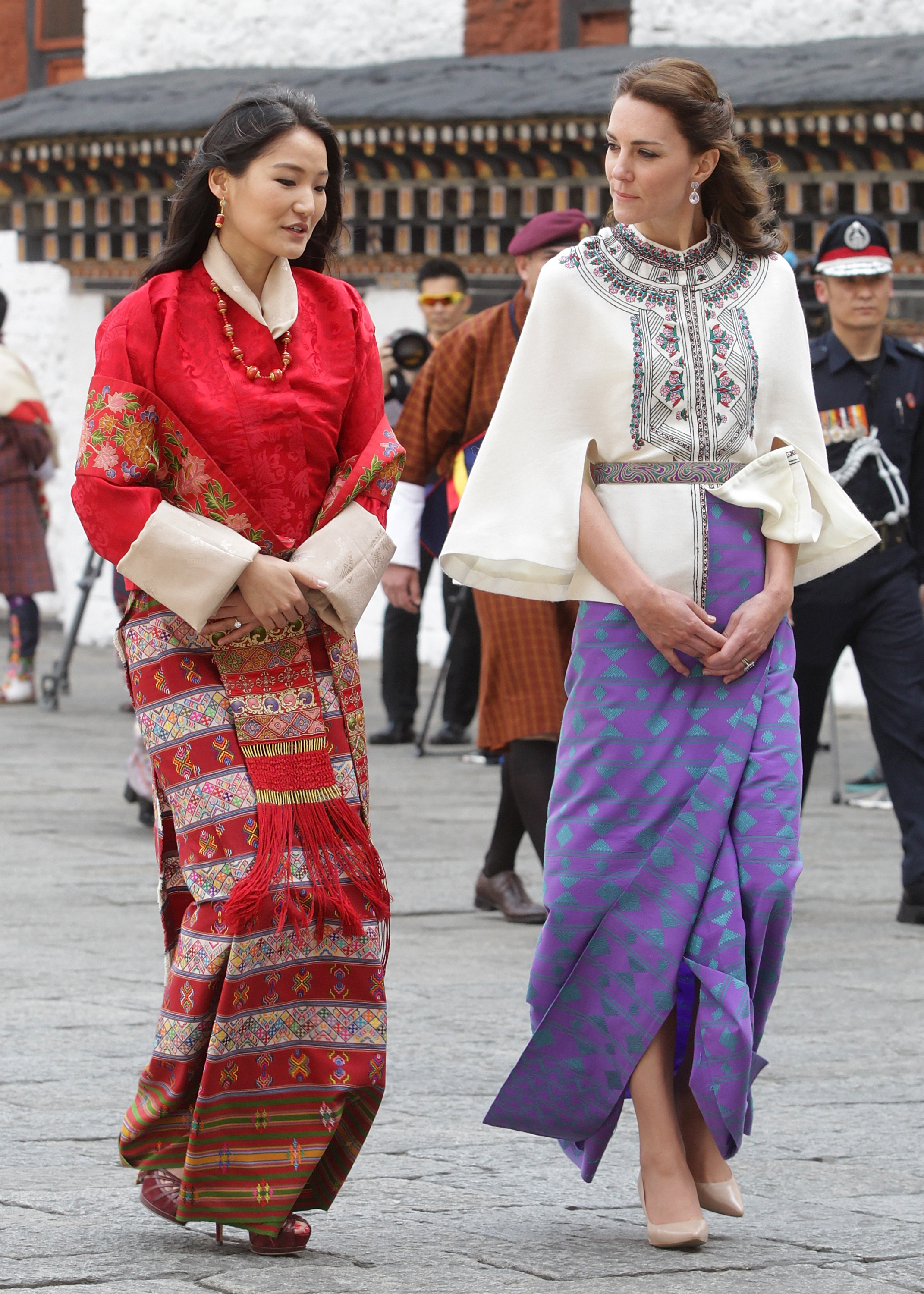 Kate Middleton and the Queen of Bhutan