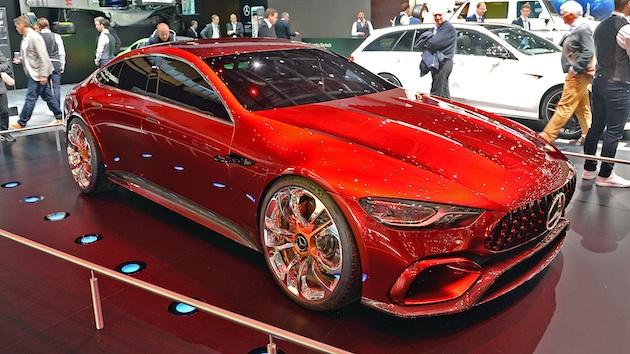 メルセデスAMG、ハイブリッドの4ドア・モデル「メルセデスAMG GTコンセプト」をジュネーブで公開!