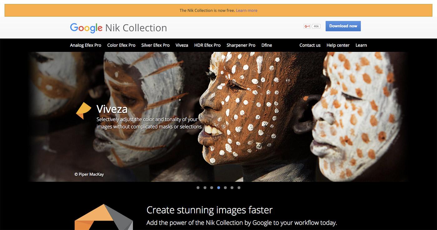 Google 将 Nik Collection 免费提供下载