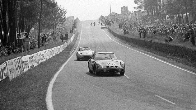 Masten Gregory, Phil Hill, Aston Martin DP215, 24 Hours of Le Mans, Le Mans, 16 June 1963. (Photo by Bernard Cahier/Getty Images)