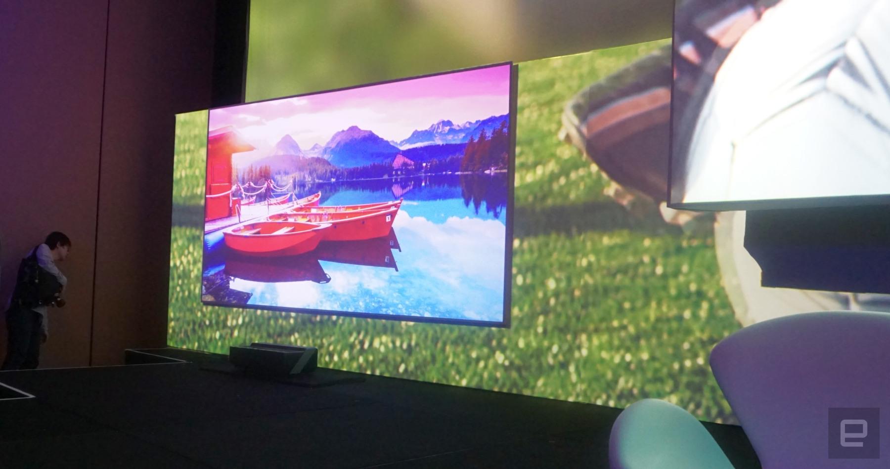 Hisense shows a 150-inch 4K 'L...