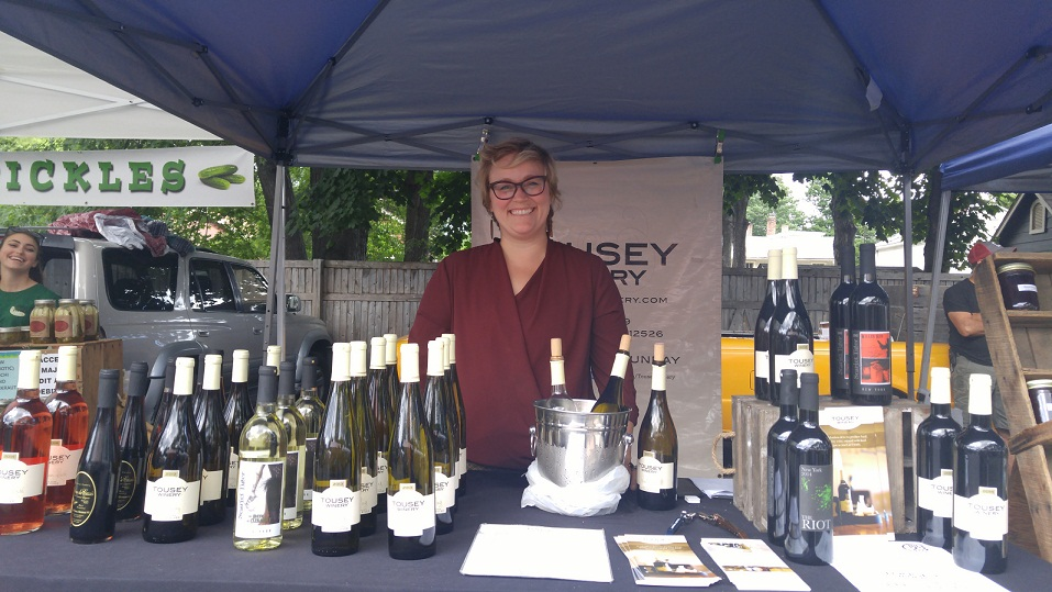 Tousey Winery at the Rhinebeck Farmers Market