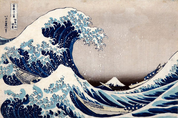 Katsushika Hokusai La [grande] onda presso la costa di Kanagawa, dalla serie Trentasei vedute del monte...