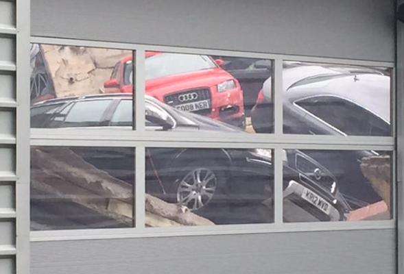 Audi showroom collapse