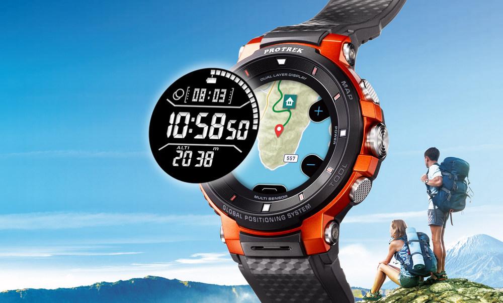 771fe30ae4 カシオ PRO TREK Smart WSD-F30発表。3日使えるカラー地図のアウトドア向けスマートウォッチ - Engadget 日本版