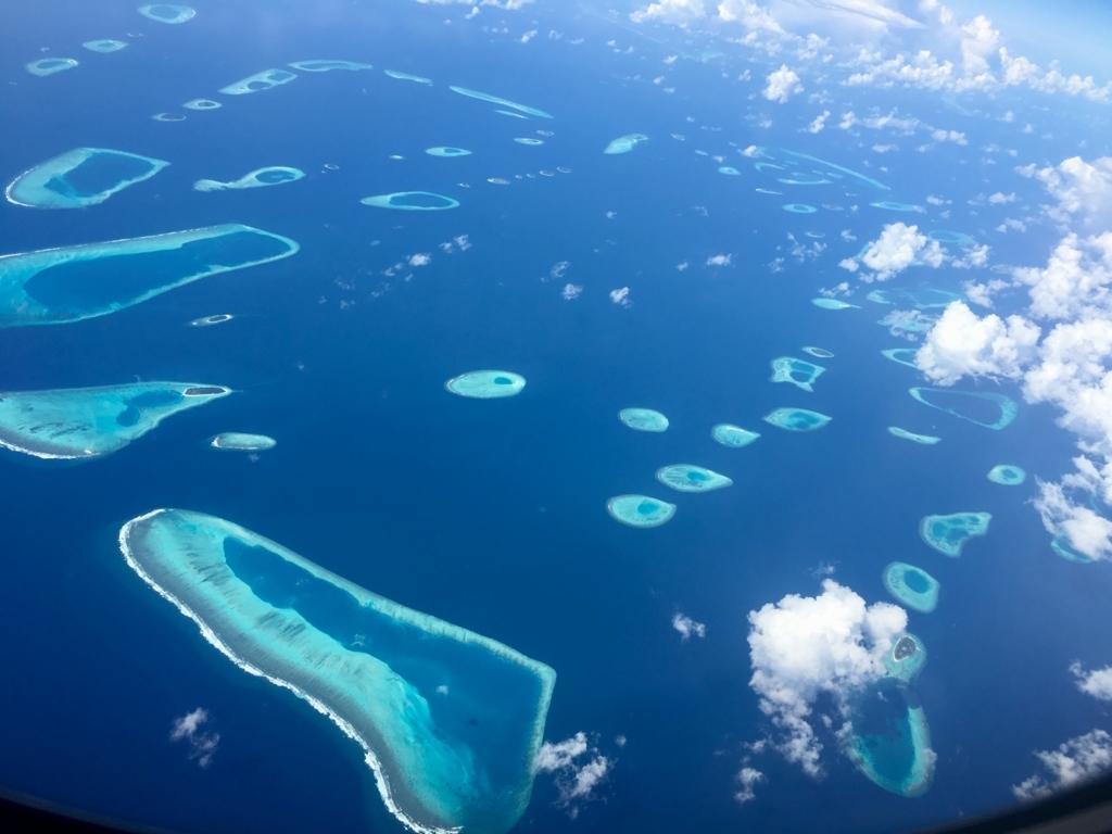 モルディブには26の環礁が