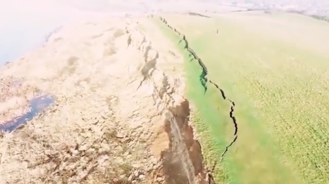 Drone footage shows 900ft crack on jurassic coast after for Soil uk tour 2016