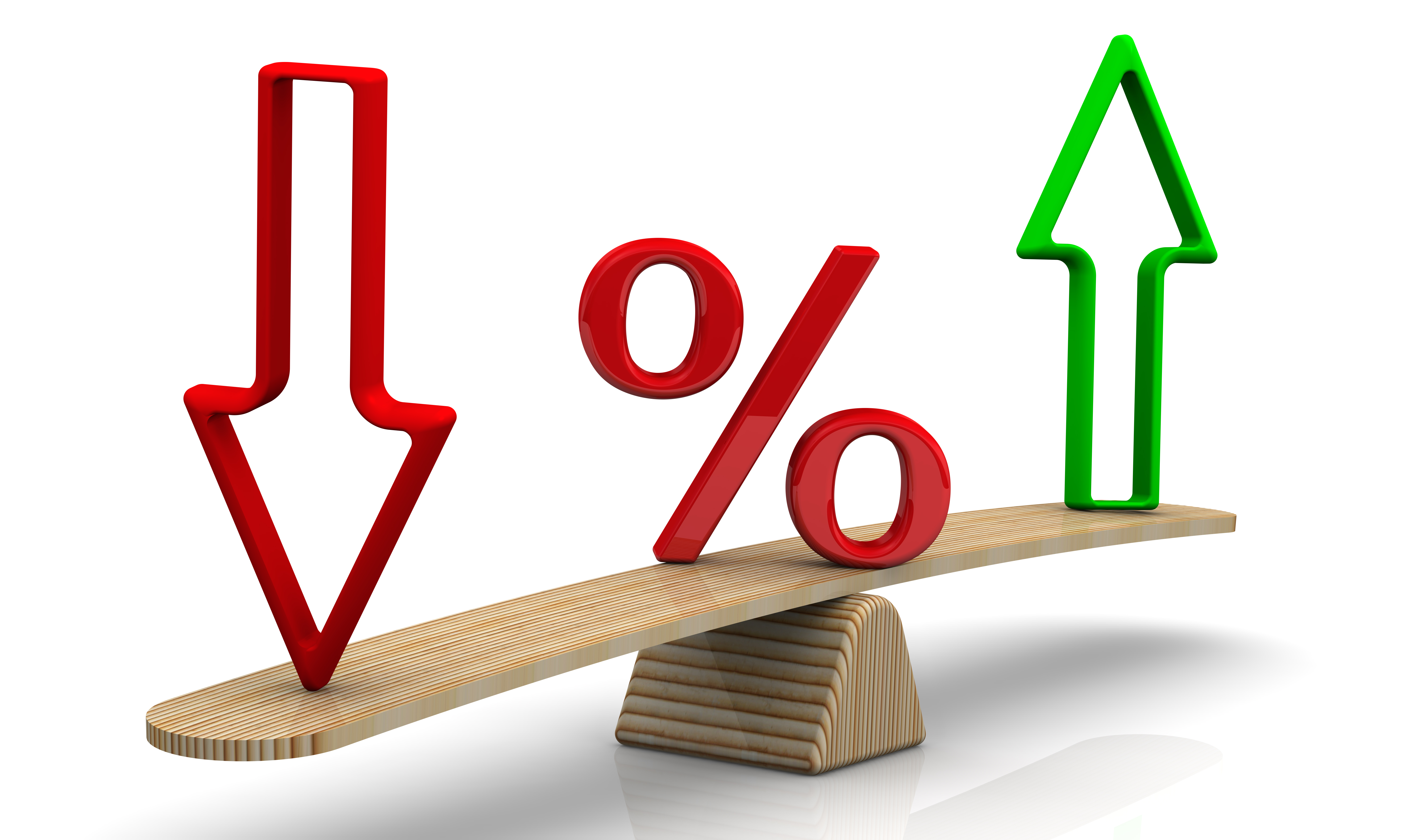 Changes in interest rates. Concept