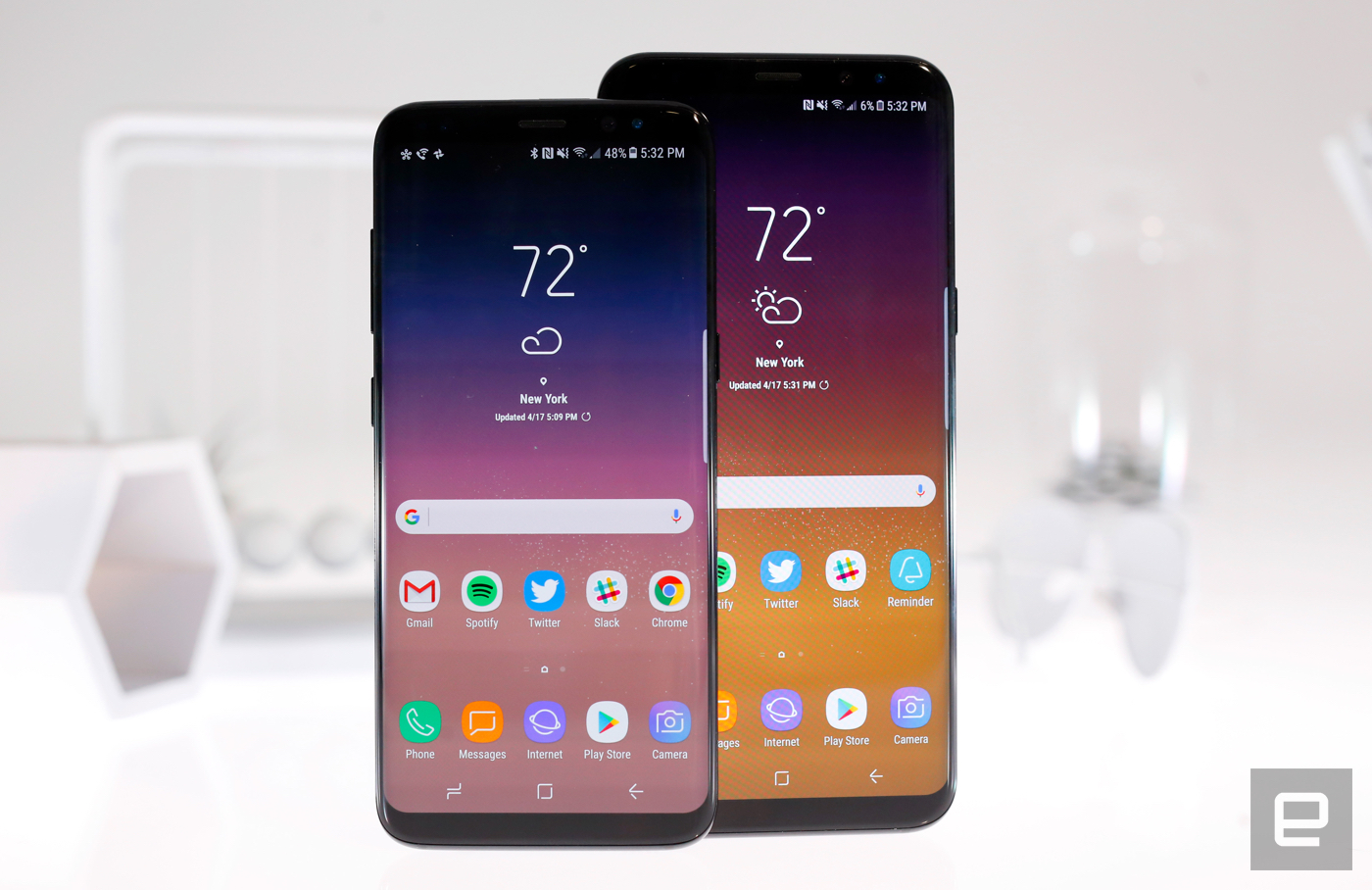 Hardware and design Samsung Galaxy S8 and