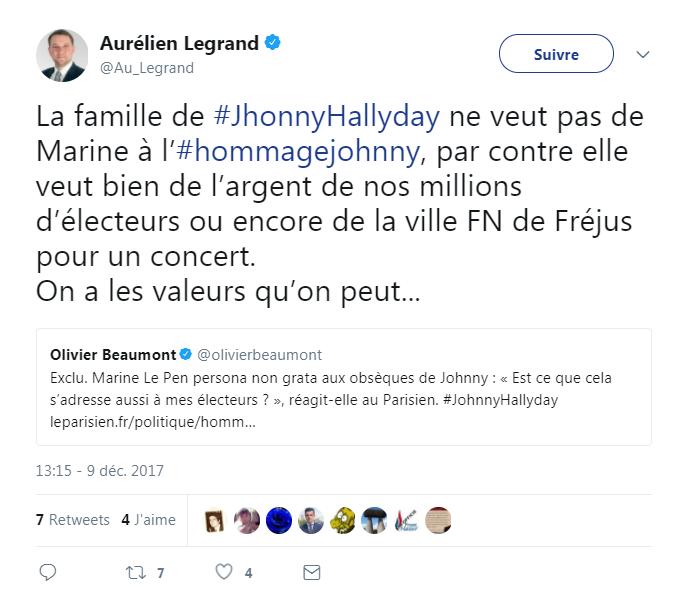 Hommage à Johnny Hallyday à la Madeleine: Marine Le Pen persona non grata à la