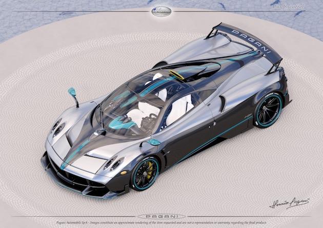 メルセデスAMGのF1マシンと同じカラーリングをまとったパガーニ「ウアイラ」のワンオフ・モデルが誕生!