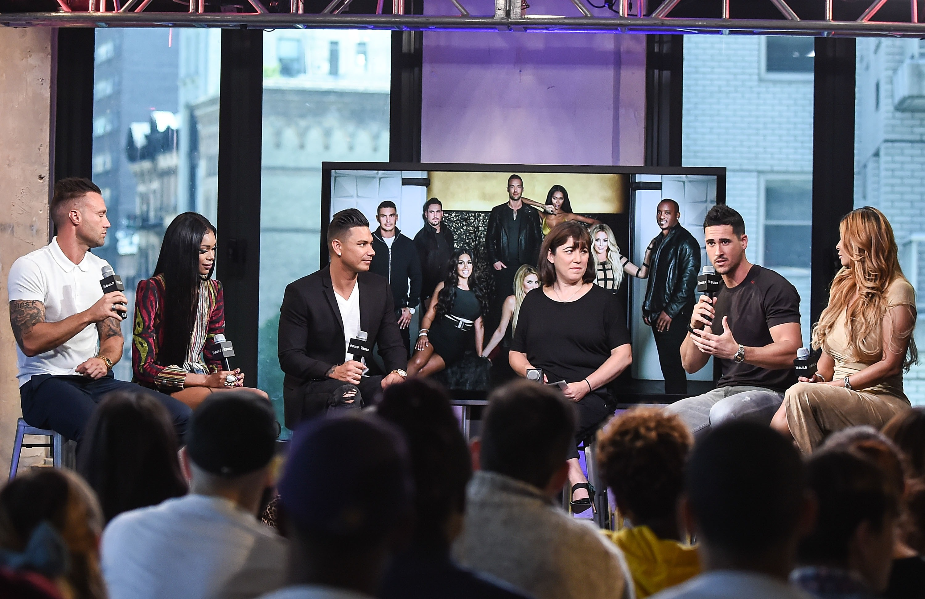 "AOL Build Speaker Series - Pauly D, Jessica White, Somaya Reece and Calum Best, ""Famously Single"""