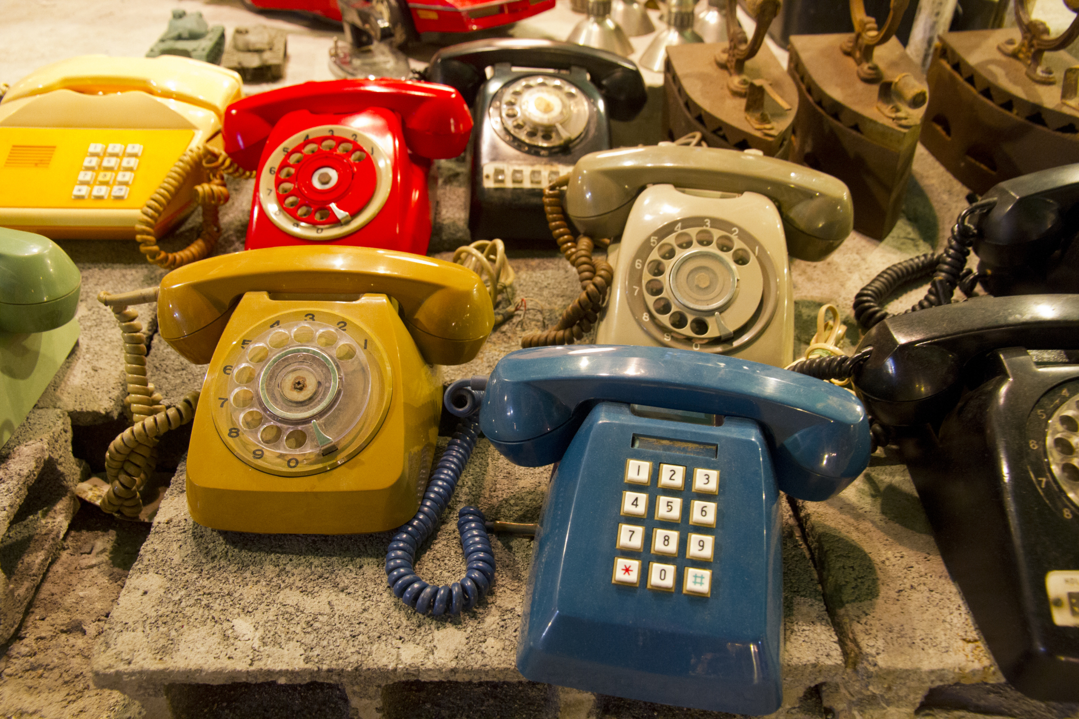 Telephones for sale at Talat Rot Fai