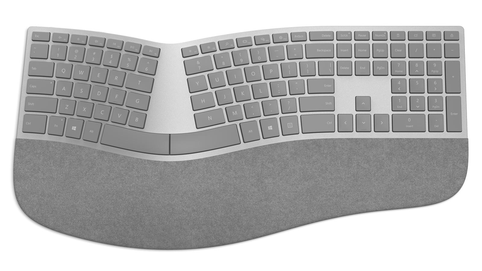 微软还为 Surface 用户准备了一款人体工学键盘