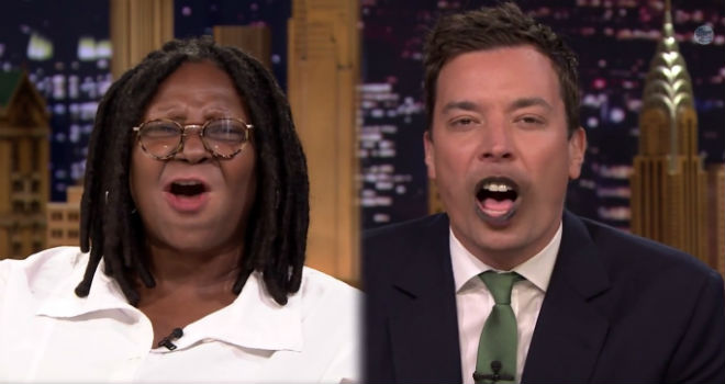 Jimmy Fallon, Whoopi Goldberg, Lip Flip, Tonight Show