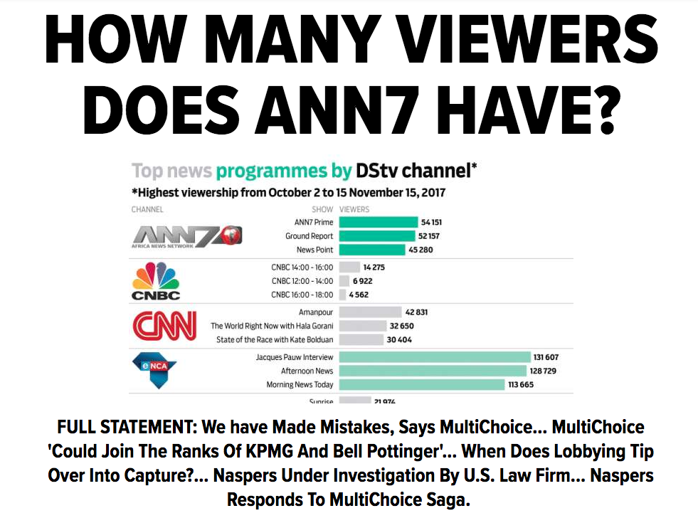 Guptas Get The Axe (But Nobody Else Does) In MultiChoice Probe Of ANN7