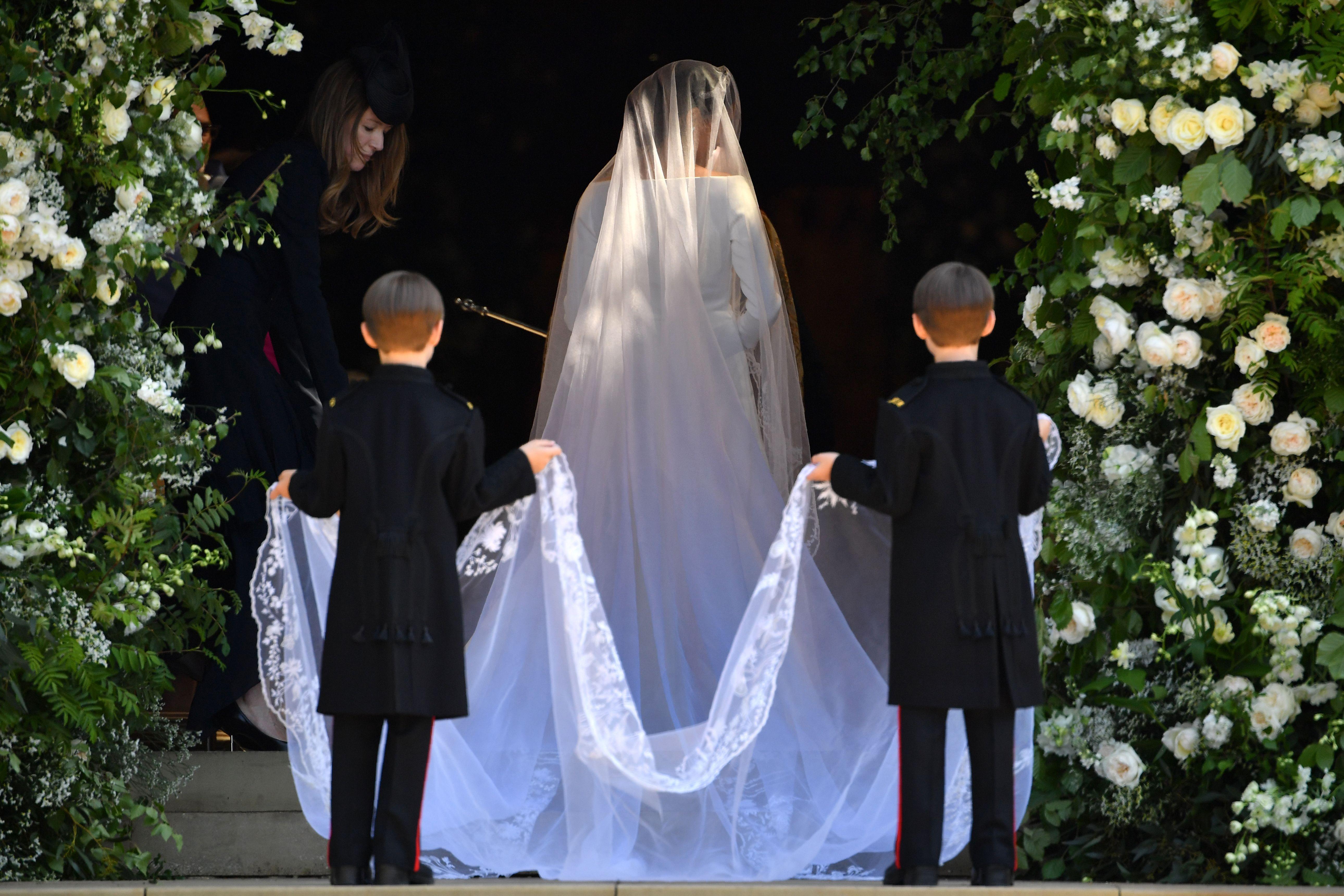Meghan Markle arrives for her wedding