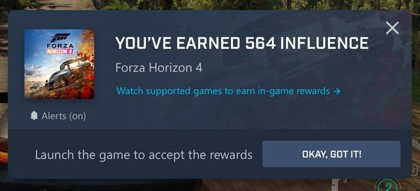 Forza Horizon 4' activates in-game bonuses for Mixer streams