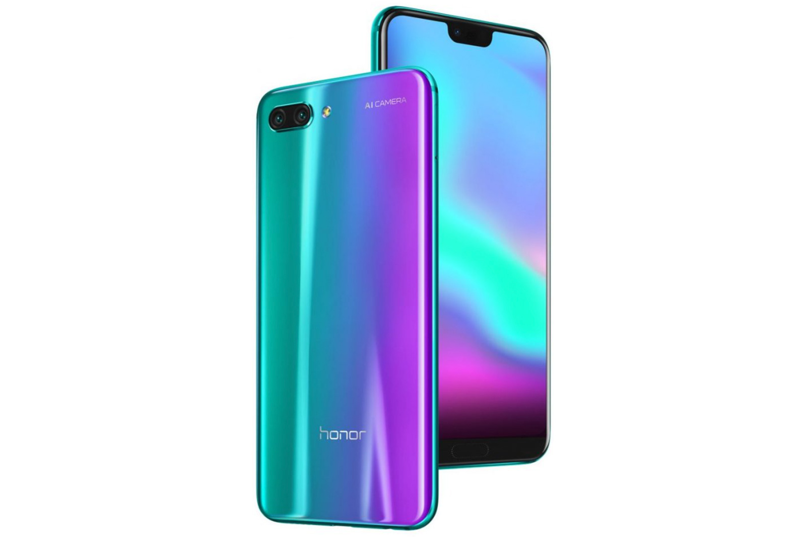 the honor 10 is as funky looking as the huawei p20 only