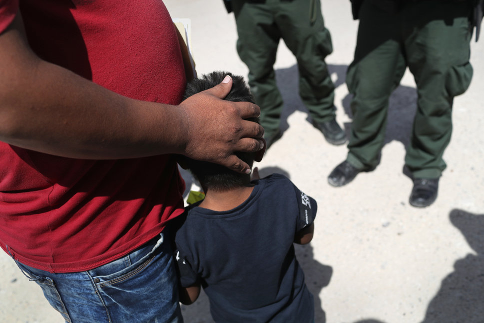 12 juin 2018, près de Mission, Texas, non loin de la frontière américano-mexicaine: la police des frontières...