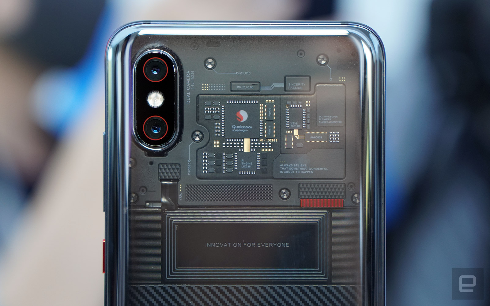 A closer look at the transparent Xiaomi Mi 8