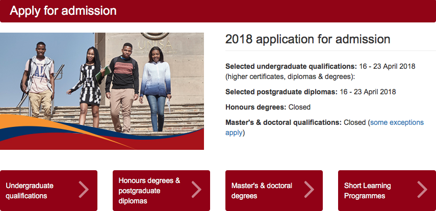 Unisa Second Semester 2018 Applications Create Frustration