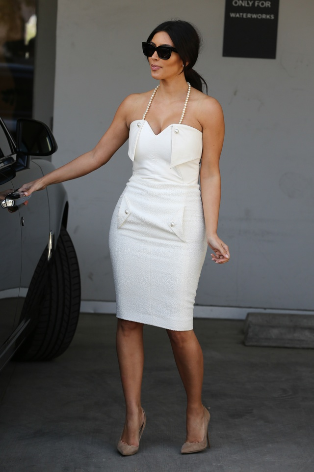 kim kardashian white dress bridal shower